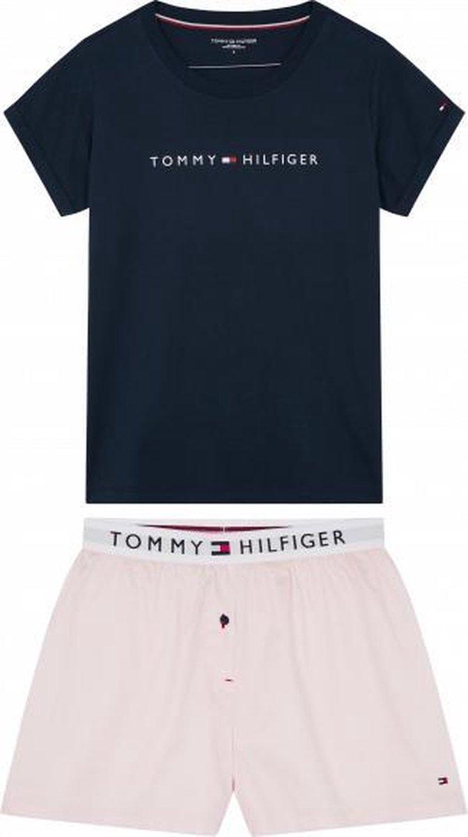Tommy Hilfiger pyjama korte broek Short Set Woven D UW0UW02324 0YZ