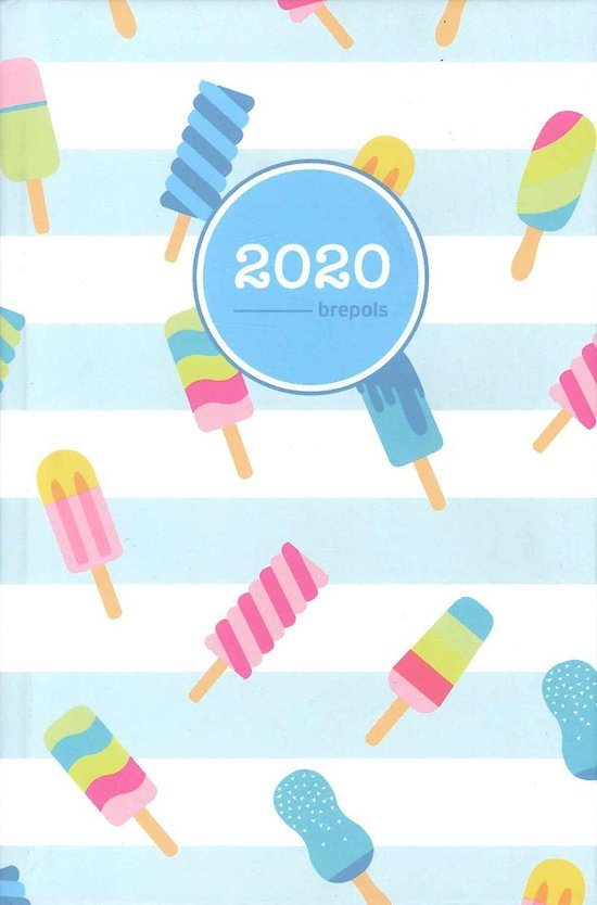 Agenda 2020 - Brepols - Happy Pocket - IJsjes - 10,5 x 15,5 cm - 4talig