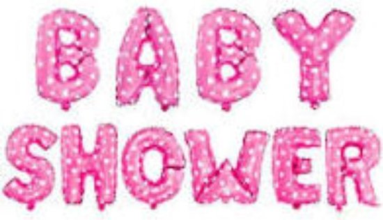 Babyshower Versiering Pakket 10 losse letters- It