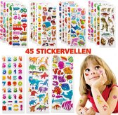 Stickervellen -  45 Stickervellen Voor Kinderen en Peuters - 3D Foam Stickers - Swilix Mega Pack
