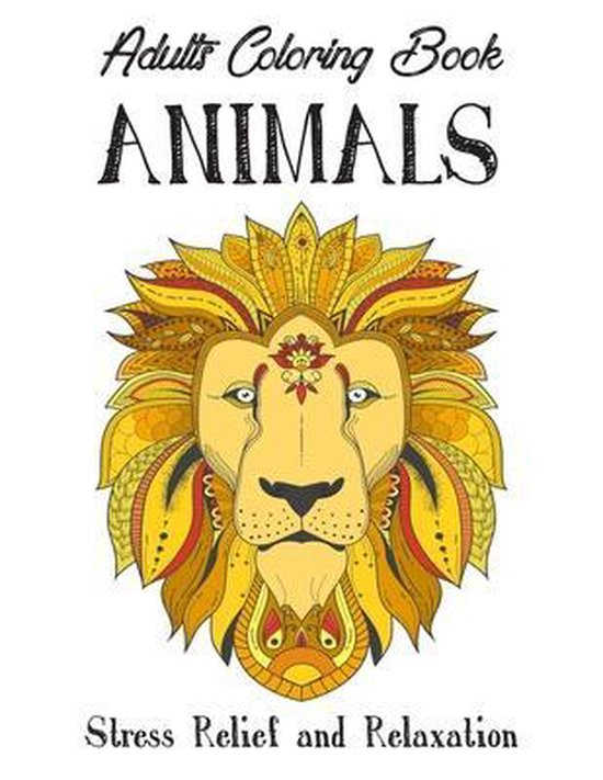 Adults Coloring Book 'ANIMALS'