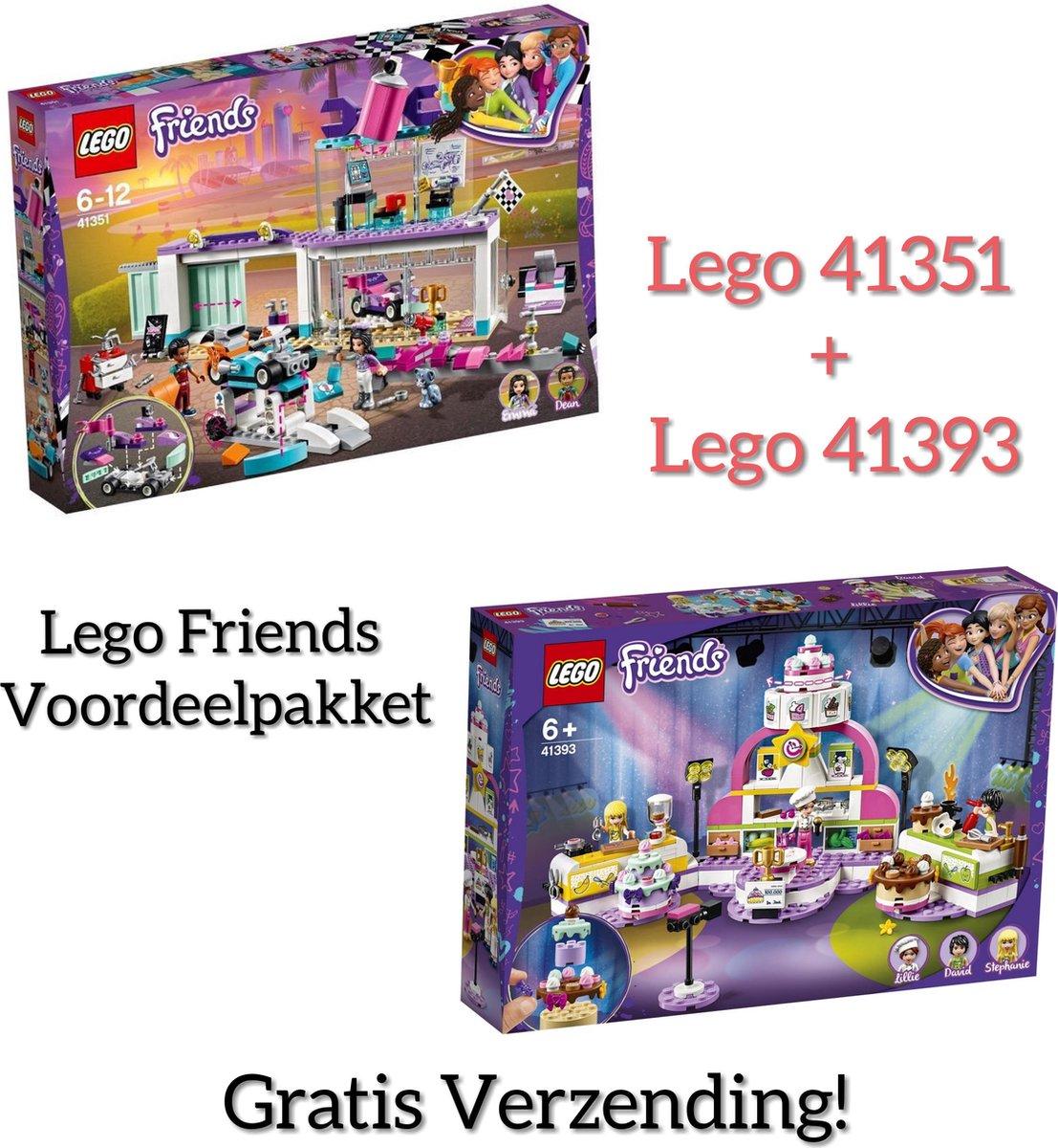 LEGO FRIENDS  VOOREELPAKKET /LEGO Friends Kart Creatieve Tuningshop  41351 + LEGO Friends Bakwedstrijd 41393 (GRATIS VERZENDING)