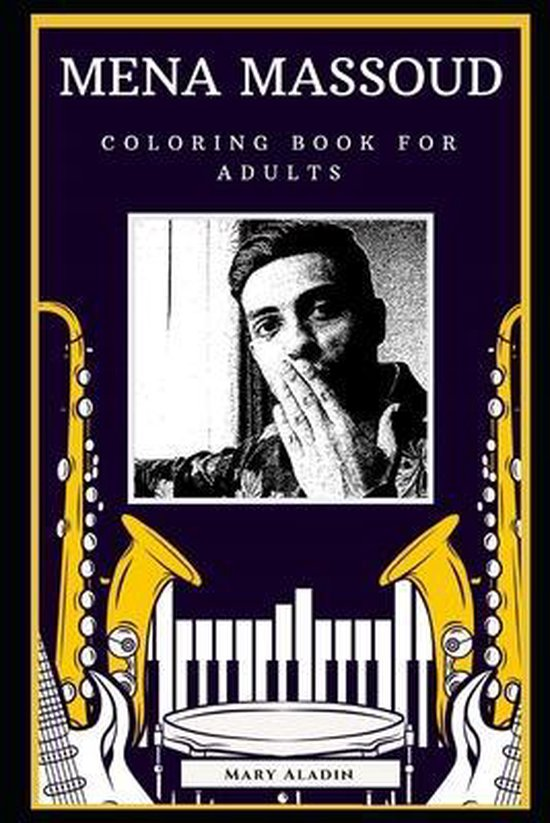 Mena Massoud Coloring Book for Adults