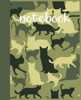 Notebook: cat lovers for those who just love a cute and artistic cover design book for notebook