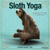 Sloth Yoga 2021 Mini Wall Calendar