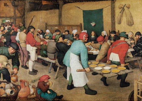 Theedoek, Breughel , Boerenbruiloft
