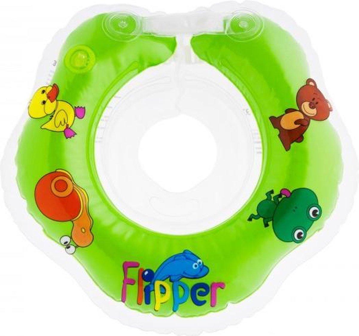 Roxy Kids - Zwemring Baby - Zwemkraag - Nekring opblaasbaar - Drijfring - Babyfloat - Babyswimmer - Flipper 0-24 maanden 3-12 kg