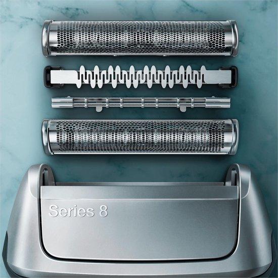 Braun Series 8 8390cc Zilver - Elektrisch Scheerapparaat met Reinigingsstation