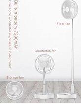 Opvouwbare, oplaadbare, draadloze, krachtige, compacte en in hoogte verstelbare VENTILATOR AIROO