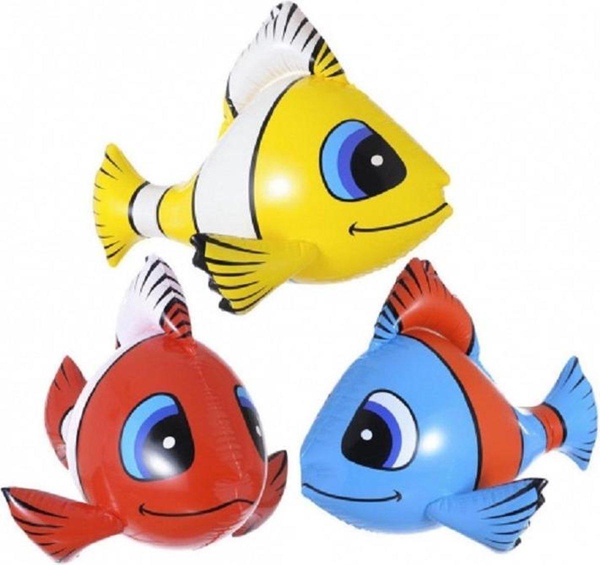 Pakket van 2x stuks opblaasbare tropische vissen van 60 cm - Voor in bad, strand of ter decoratie kopen