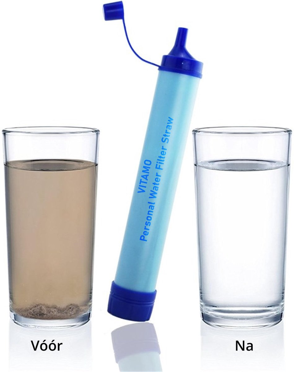 Premium Personal Water Filter Straw - Complete set - Waterfilter - Waterfles - Outdoor life - Surviv