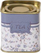 Theedoos | 5*5*6 cm | Multi | Blik | Ovaal | Tea | Juleeze | MLJB0086