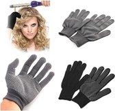 Hittebestendige Krultang Handschoenen - Warmte Handschoen voor stijltang - Styling Haaraccessoires - Grijs - 1 paar