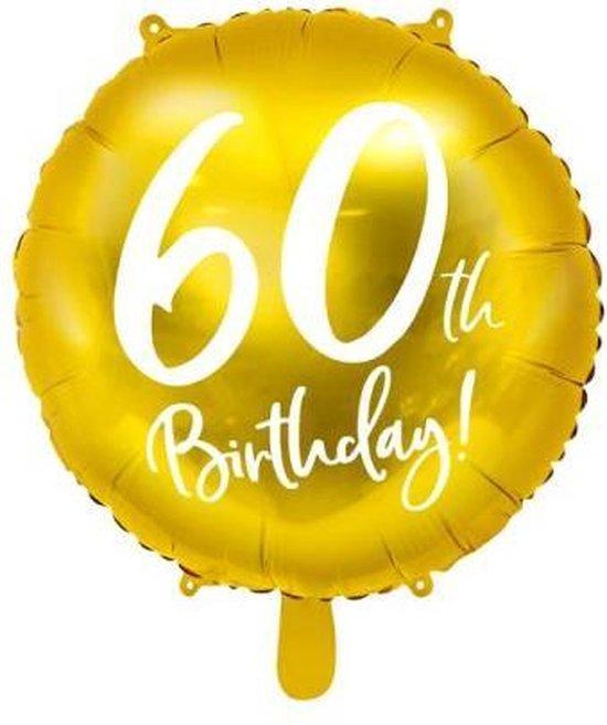 Folieballon 60 Jaar – 60 Jaar Versiering – Goud