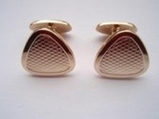 Manchetknopen - Driehoek Bewerkt - goudkleurig - robimex