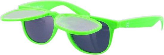 Space Zonnebril - Spacebril Klepje - Caleidoscoop Bril - Kaleidoscoop Bril - Diffractie Bril - Groen