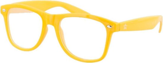 Spacebril - Space Bril - Caleidoscoop Bril - Kaleidoscoop Bril - Diffractie Bril - Geel
