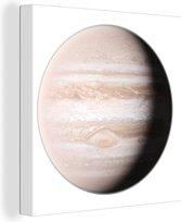 Een overbelichte illustratie van Jupiter canvas 20x20 cm - klein - Foto print op Canvas schilderij (Wanddecoratie woonkamer / slaapkamer)