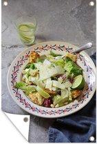 Caesar salade in een versierd bord 80x120 cm