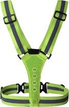 Hardloopvest met Led Reflectief - Running vest - Veiligheidsvest - Sportvest - Hardloopverlichting - One size fits all