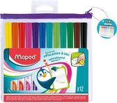 MARKER'PEPS whitebordviltstiften assorti kleuren - in etui x 12