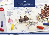 Pastelkrijt Faber Castell halve lengte etui  - 72 stuks