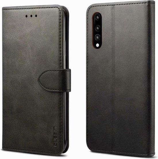 Voor Huawei P20 Pro GUSSIM zakelijke stijl horizontale flip lederen tas met houder & kaartsleuven & portemonnee (zwart)