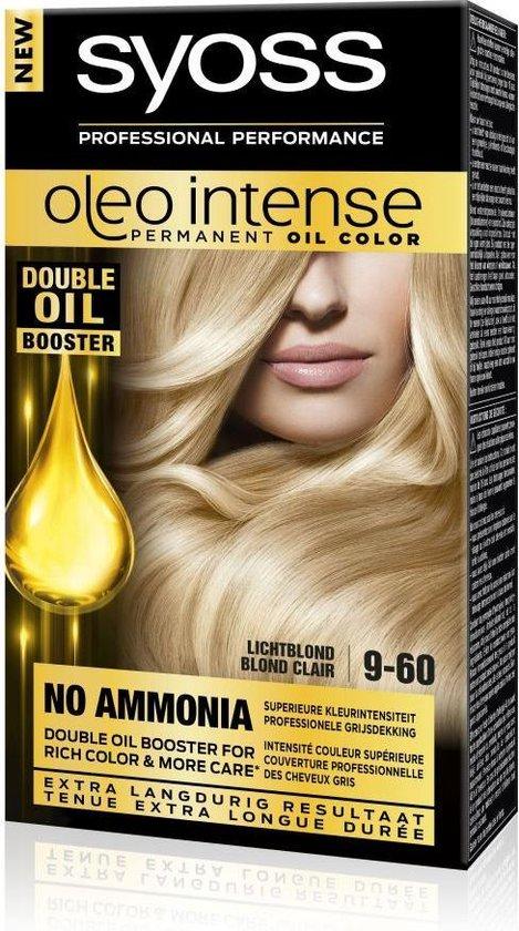 SYOSS Color Oleo Intense 9-60 Licht blond Haarverf  - 1 stuk - SYOSS
