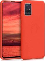 IYUPP Samsung Galaxy A51 Hoesje Rood Siliconen - Full Body