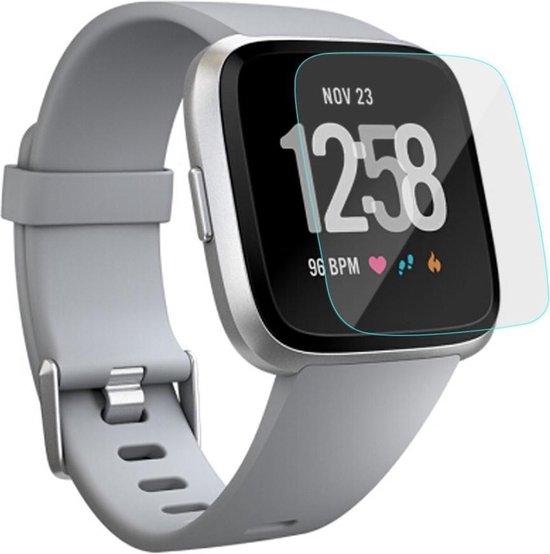 0.3 mm Tempered Glass Screen protector – Scherm beschermer – Extra sterk 9H - Geschikt voor Fitbit Versa