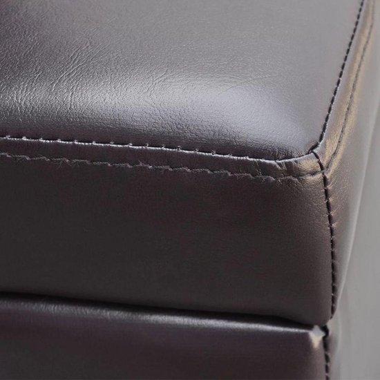 vidaXL Lange opslagbank hout bruin