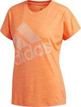 adidas SS BOS LOGO TEE Dames Sportshirt - Hi-Res Coral - Maat XL