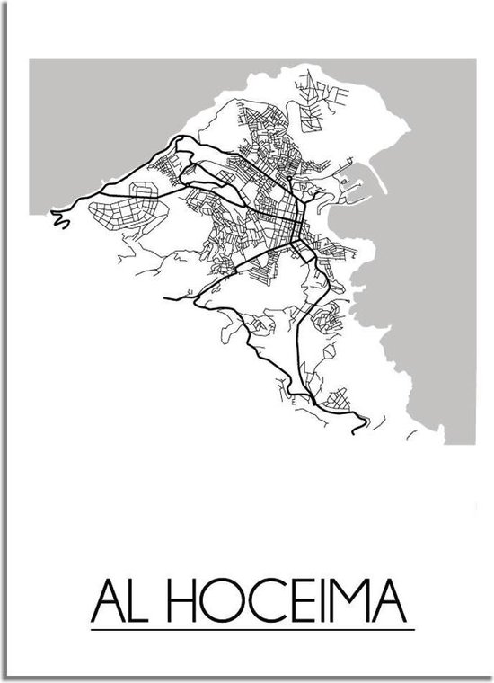 DesignClaud Al Hoceima Plattegrond poster A4 poster (21x29,7cm)