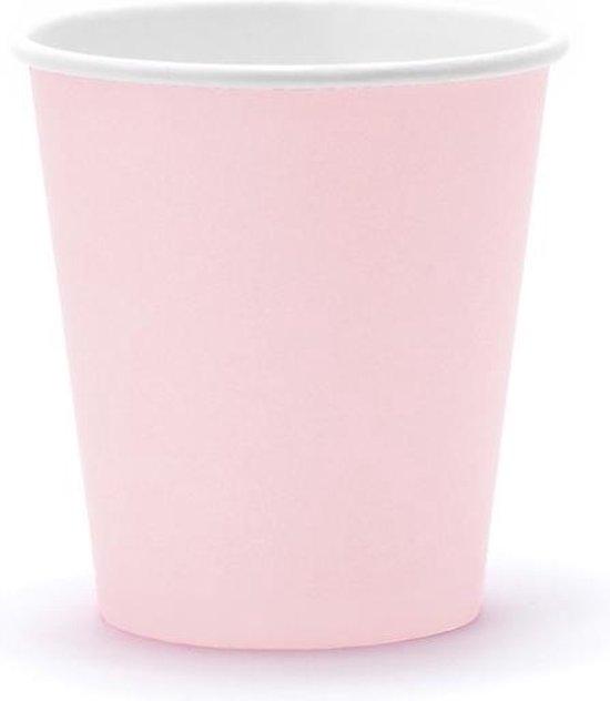 Bekertjes licht roze - 6 stuks - Babyshower / Geboorte meisje