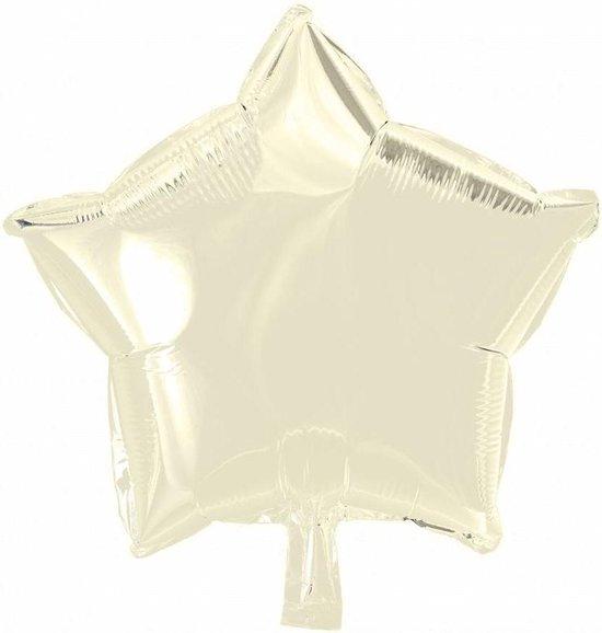Helium Ballon Ster Ivoor 46cm leeg