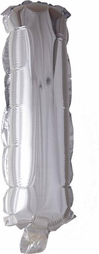 Folie Ballon Letter I Zilver XL 86cm leeg