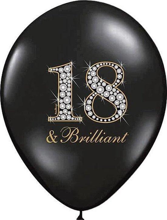 Partydeco Ballonnen 18 & Brilliant 30 cm - 6 stuks