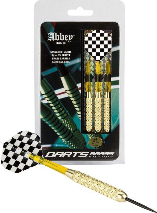 Afbeelding van het spel Abbey Darts Darts - Brass - Zwart/Wit - 21
