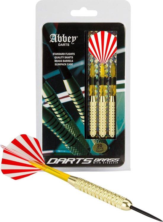 Abbey Darts Darts - Brass - Rood/Wit - 20 - Abbey Darts