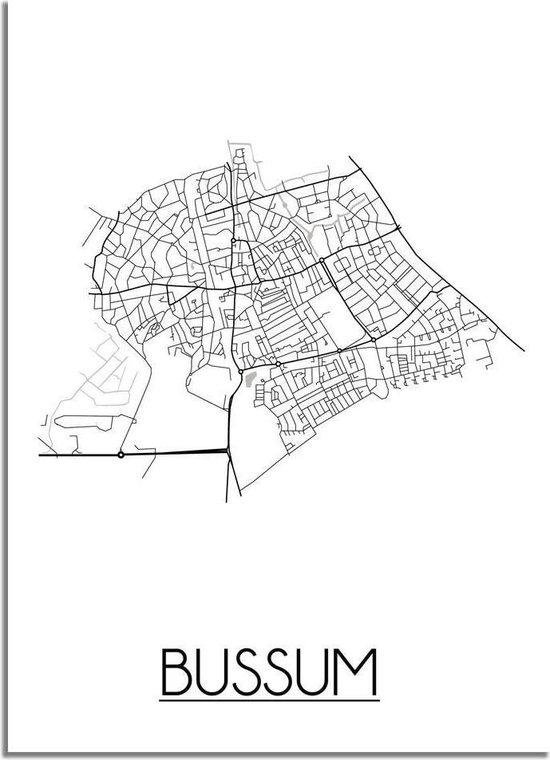 DesignClaud Bussum Plattegrond poster A3 poster (29,7x42 cm)