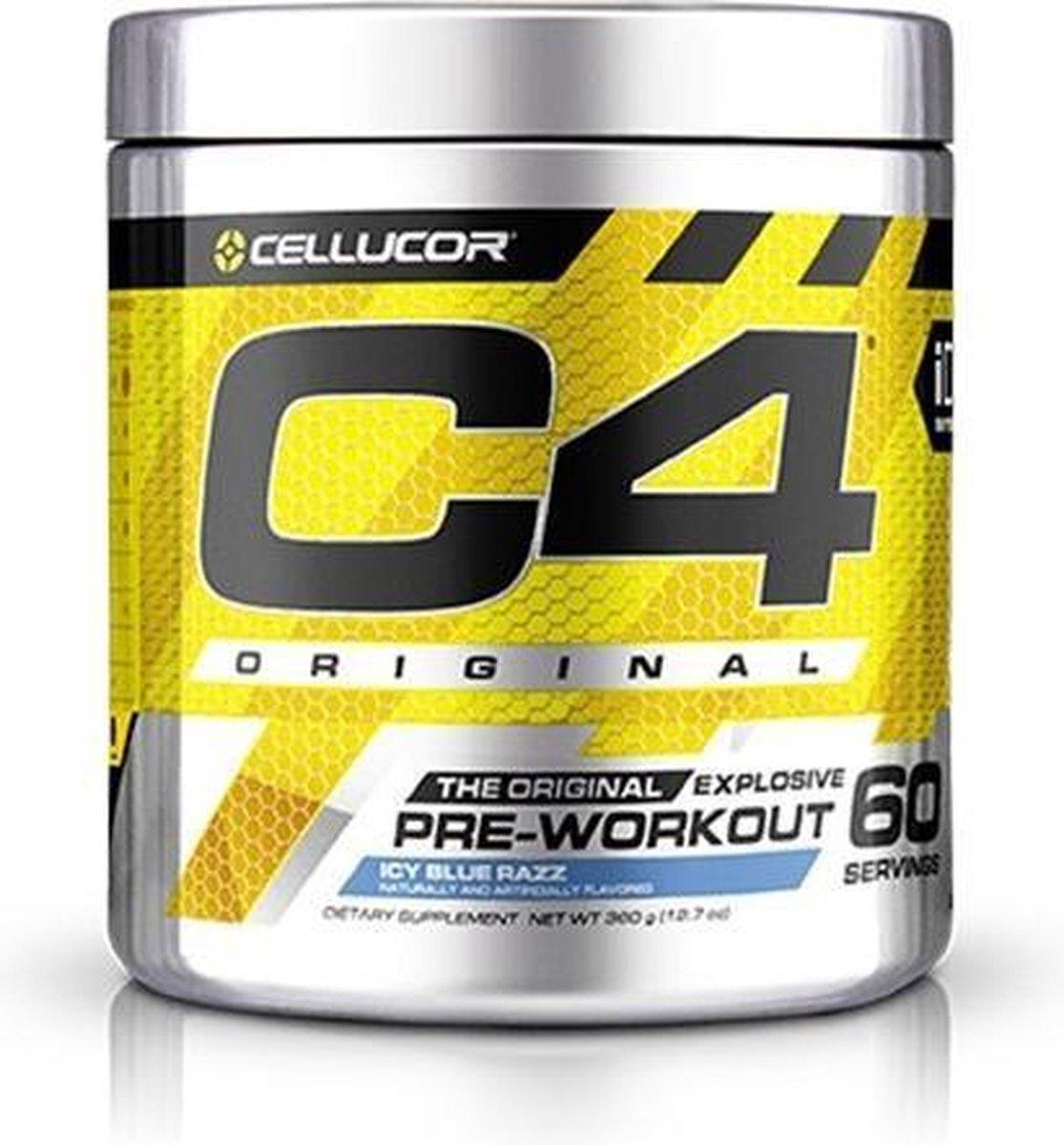 Cellucor C4 Original Pre-Workout - 60 Doseringen - Icy Blue Razz