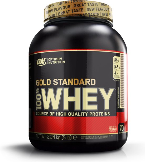 Optimum Nutrition Gold Standard 100% Whey Protein - 2270 gram - Chocolade Hazelnoot