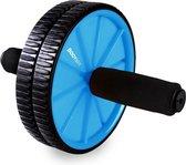 Body & Fit Trainingswiel - Buikspiertrainer - Foam handvaten voor extra grip - Zwart / Blauw