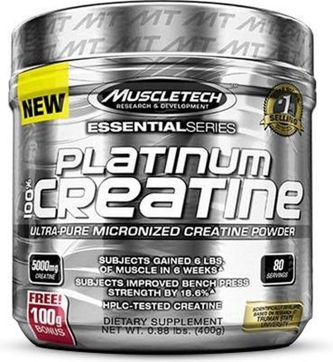 Muscletech Platinum Micronized Creatine - 400 gram (80 doseringen)