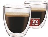 Espressoglazen dubbelwandig, set van 2 - Maxxo