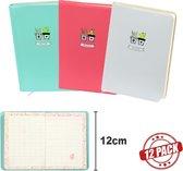 Dreamnotes D6066-12 12 x D6066 A6 Notitieboek bloesem roze, groen en wit