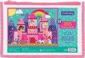 Mudpuppy Pouch Puzzle - Princess Castle - 12pcs