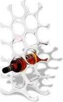 vidaXL Wijnrek - 26 x 14 x 54 cm - Aluminium - 15 flessen