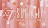 W7 Socialite Pressed Pigments Oogschaduw Palette - 18 Kleuren