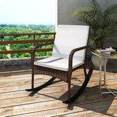 vidaXL Tuinschommelstoel poly rattan bruin